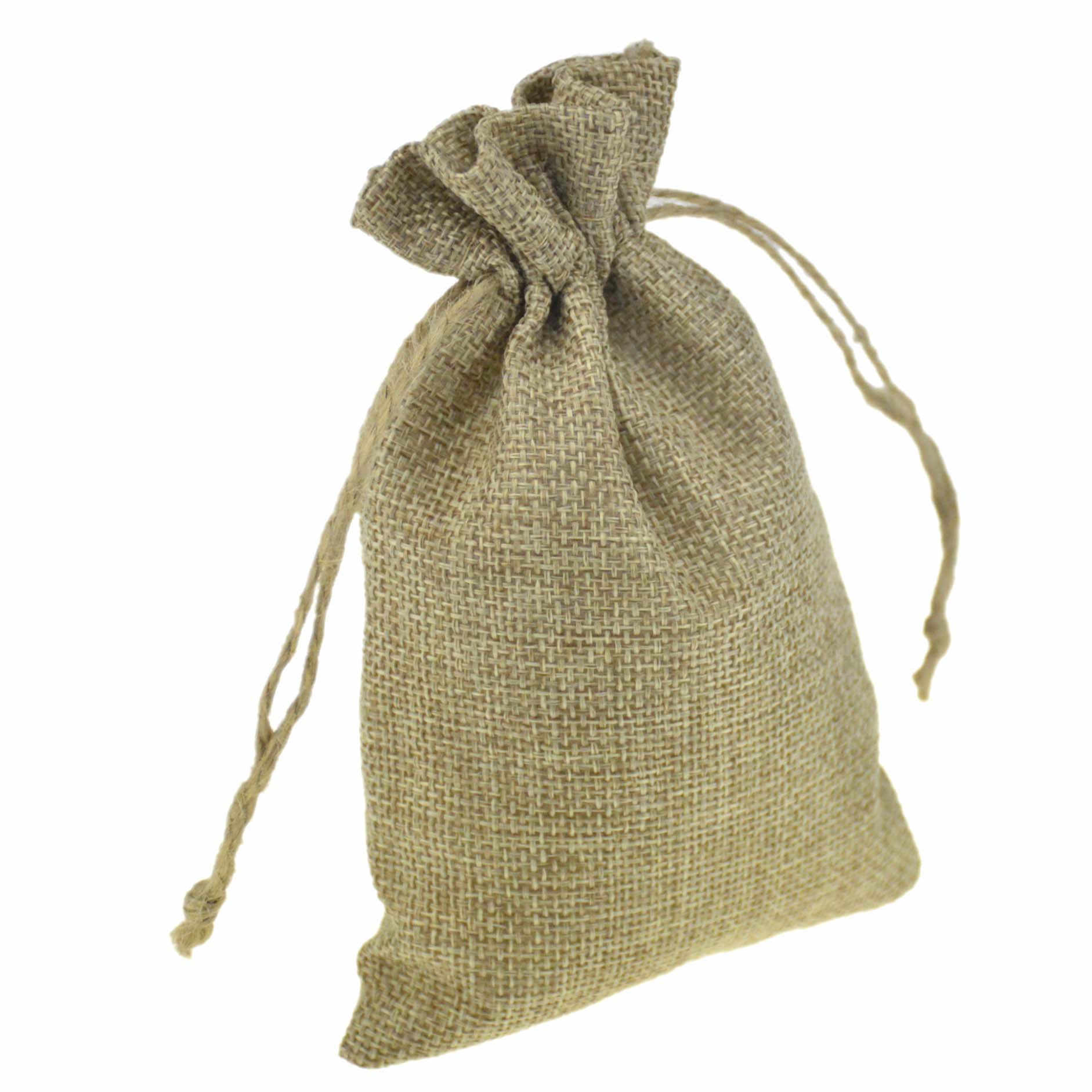 1PC 7 rozmiarów pościel juta etui ze sznurka bawełna świąteczny prezent na halloween torby pudełka opakowania do pakowania wesele torby cukierków