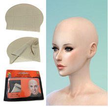 New 2018 Details about Funny latex Skin Fake Bald Head Unisex Fancy film Party Dress Skinhead Wig Cap female male portable(China)