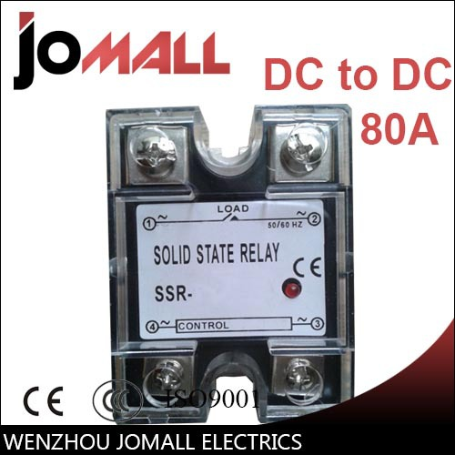 цена на SSR -80DD-H DC control DC SSR general purpose sealed Single phase Solid state relay 220v