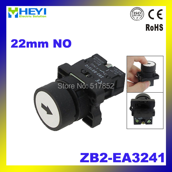 22mm NO N/O White Sign Momentary Push Button Switch 600V 10A ZB2-EA3241