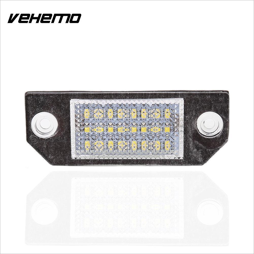 Vehemo 2шт 18 LED 12V авто автомобилей номерного знака Для Форд Фокус с-Макс