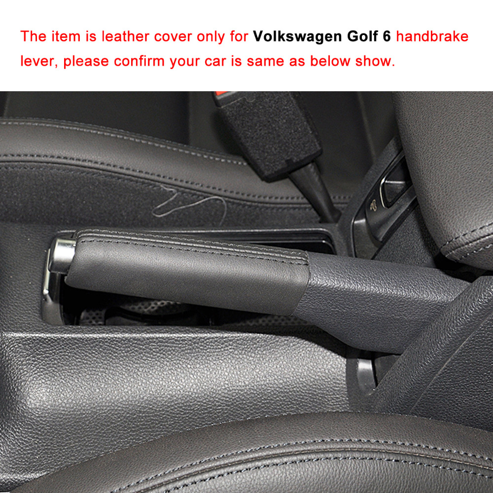 hight resolution of ponsny car handbrake covers case for volkswagen vw golf 6 jetta genuine leather handbrake grips cover car styling in handbrake grips from automobiles