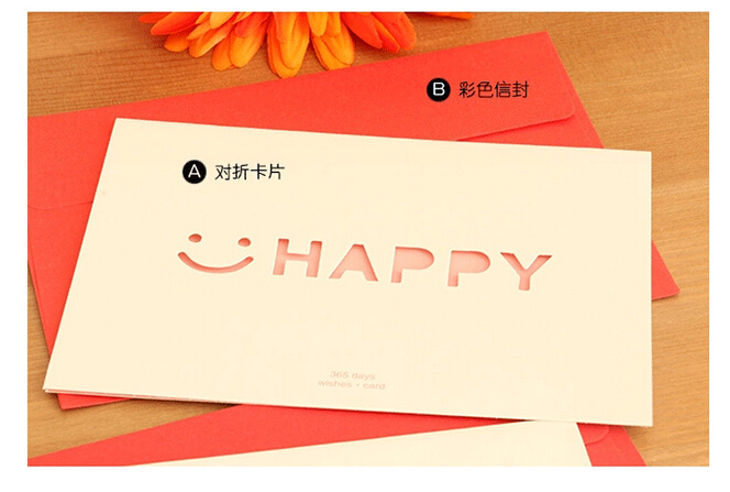 Korean Creative 365 Days Fine Greeting Cards Birthday Card Diy