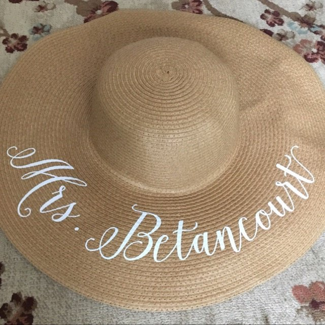 d3f008fcbfa Customize beach wedding bride floppy Mrs Sequin Sun Hats Honeymoon  bridesmaid maid of honor bridal shower party gifts favors-in Party DIY  Decorations from ...