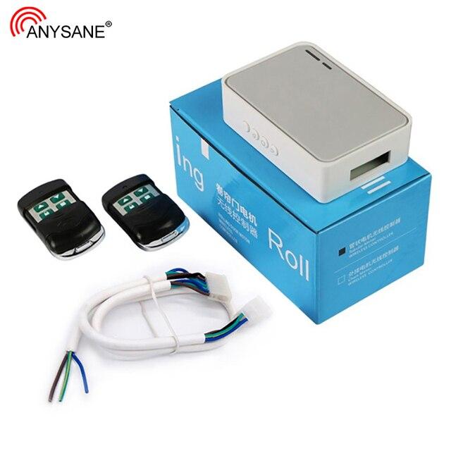 Anysaneローリングシャッター管状モータコントローラ、ワイヤレスガレージドア電動ドアリモコンキットRF433mhz受光器投光器