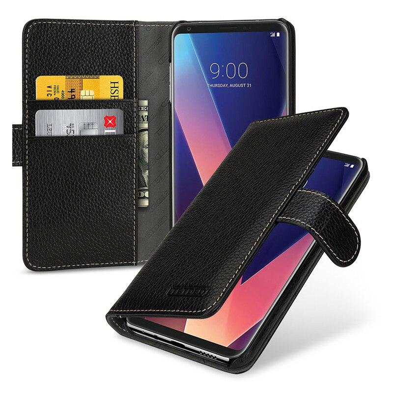 Original Brand Genuine Leather Cover for LG V30 Luxury Wallet Case Fashion Holder Stand Flip Case for LG V30 Phone Fundas Bag