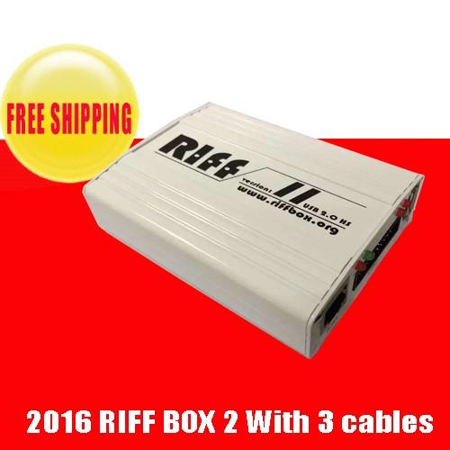 imágenes para Riff box v2 mejor jtag para htc, samsung, huawei desbloqueo de flash & repair con 2 unids cables planos