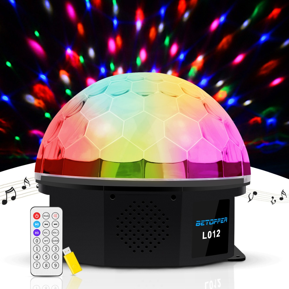 BETOPPER Stage Light Disco Ball Stage Lighting Effect Dj Disco Light LED Colorful lamp for Party Christmas Lights Projector