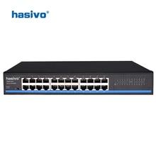 24 RJ45 Port Network Ethernet Switch 10/100Mbps Ethernet Switch LAN switch  for ip camera 4 port poe switch 4 1 port fast ethernet switch 10 100mbps 802 3af power over ethernet onvif ip camera compatible network