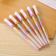 1 PCS Rainbow Large-Capacity Water Chalk Water-Based Pen Highlighter Pen Rainbow Gradient Pen Student Gift School Office Supplie