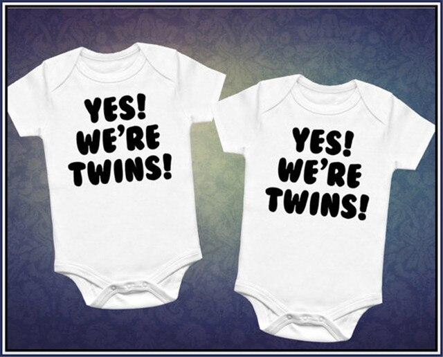 Culbutomind/черный хлопковый комбинезон с короткими рукавами и принтом близнецов для маленьких мальчиков и девочек, детские Боди для близнецов, комбинезон для новорожденных