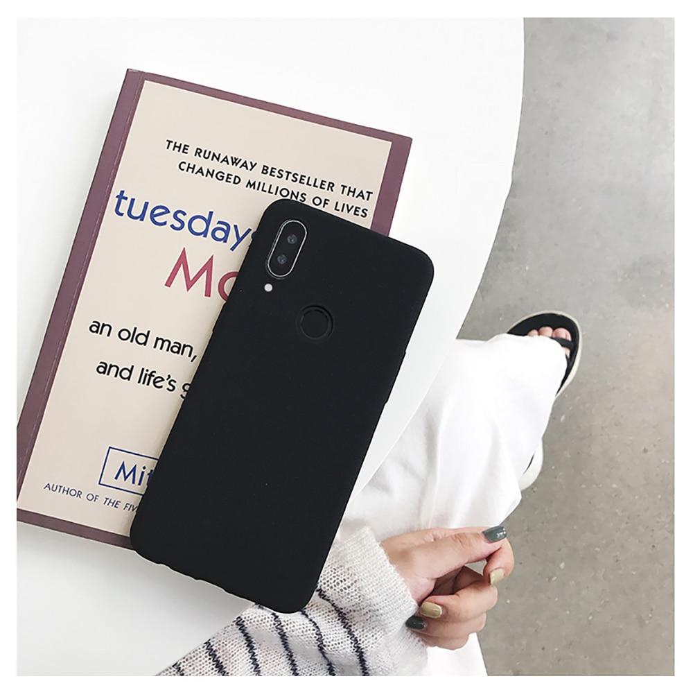 for LECAYEE Redmi Note 7 Matte Case Cover Redmi Note 5A Prime In Fitted Silicone Phone Case redmi 6 pro 6a 5 5a 4x s10 case (7)