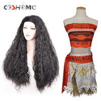 Cosworld Princess Moana Costume Adult Children Moana Dress Skirt Cosplay Costume Halloween Costume For Kids Girls