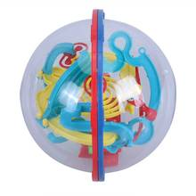 3D Spherical Maze Intellect Ball Rolling Ball Balance Game Baby Brain Teaser Toy Kids Development Toys Gift 3D Ball Maze Puzzle