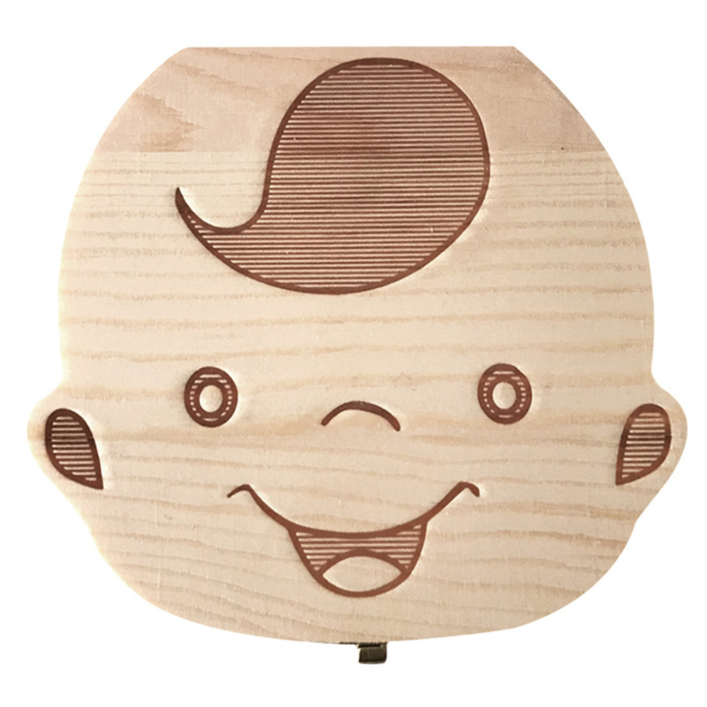 Wooden Baby Boy Girl Teeth Save Box Baby Teeth Box Save Organizer Milk Teeth Box Tooth Storage Box