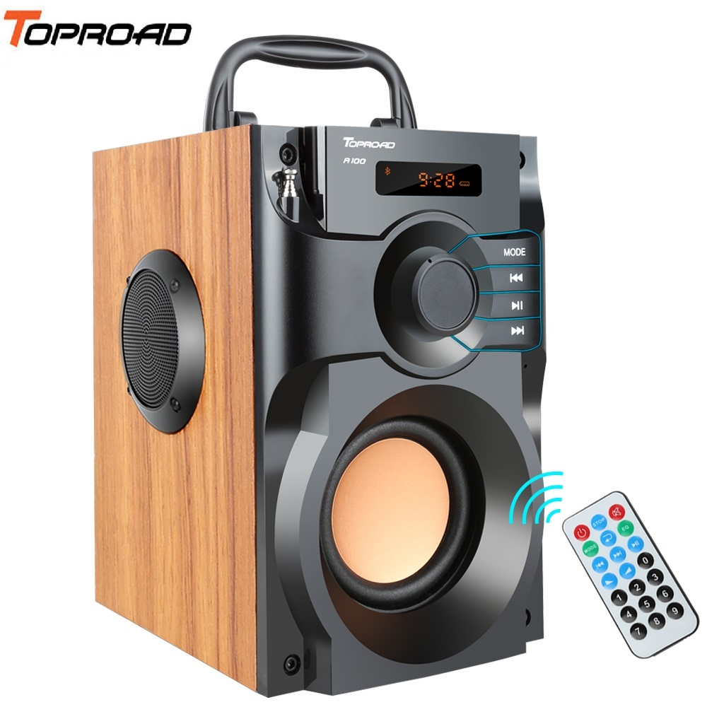 TOPROAD Portable Bluetooth Speaker Wireless Stereo Subwoofer Supper Bass Speakers Boombox Sound Box Support FM Radio TF AUX USB