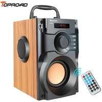 TOPROAD Portatile Altoparlante Senza Fili di Bluetooth Stereo Subwoofer Cena Bass Altoparlanti Boombox della cassa di Risonanza di Sostegno FM Radio TF AUX USB