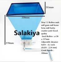 Newest Stainless Biaxial Linkage 2 Roller Malt Mill Grain Grinder Crusher For Homebrew