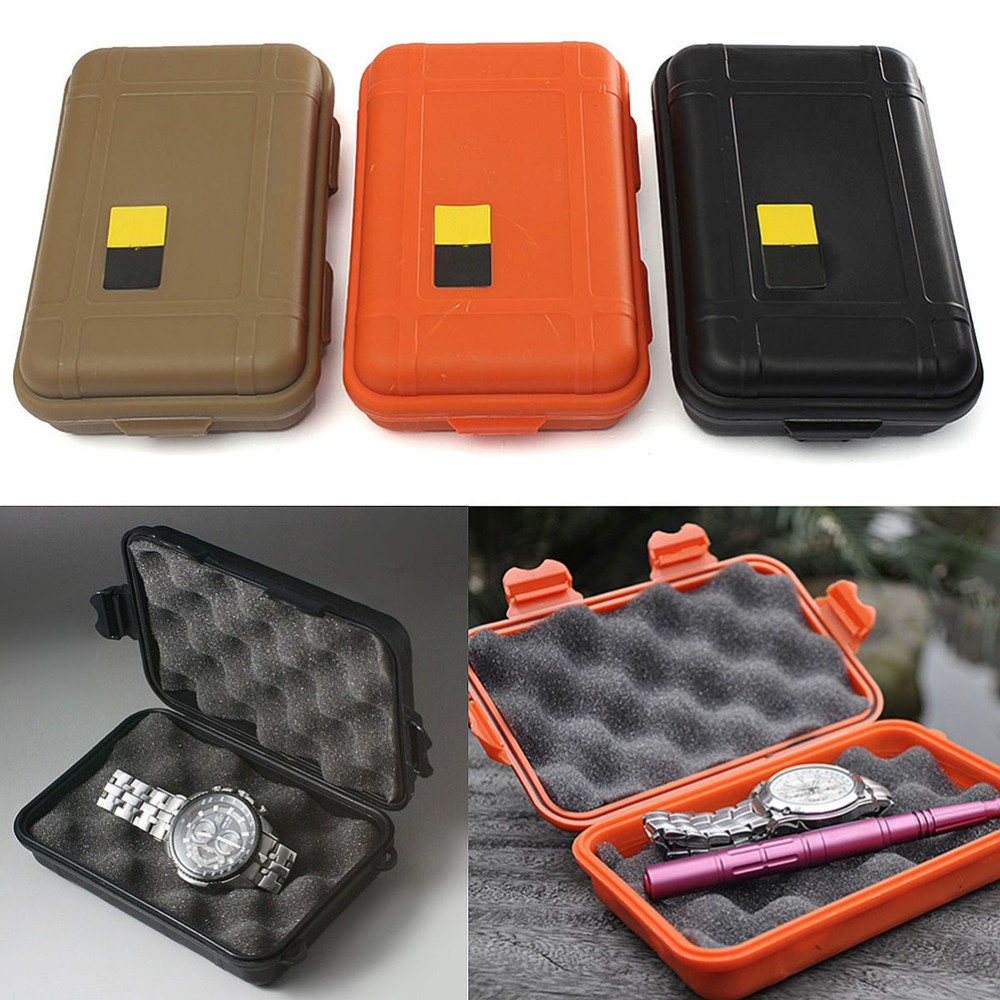 1pc Large/small Size Outdoor Shockproof Waterproof Airtight Survival Case Container Storage Carry Box