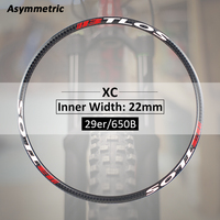 carbon wheels Asymmetric MTB XC trail carbon rim available for 29er M i22A bike wheel