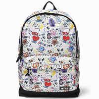 BT21 Backpack BTS Bangtan Boys Backpack Cute Cartoon Anime Shoulder Bag for Teenagers Hip Hop School Bag Mochila Laptop Backpack