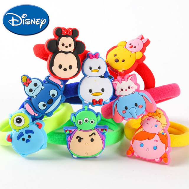 Disney Best Selling Baby Kids Children Cute Hair Rope Girls Cartoon Hair  Accessories Ponytail Holders Hair c492c19fc12