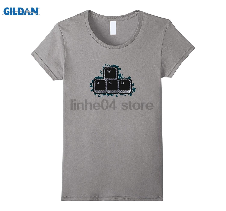 Возьмите WASD рубашка-PC Gamer футболка шт мастер расы Рубашка летнее платье футболка