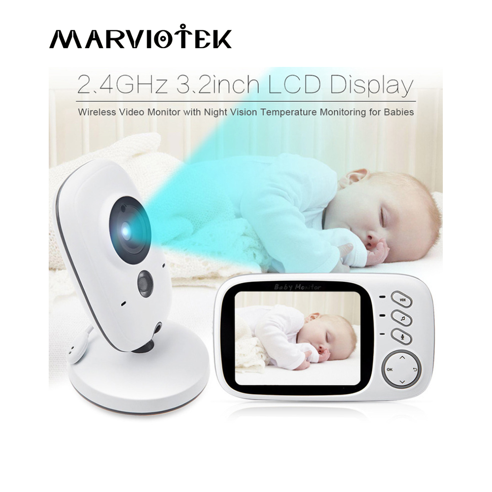 VB603 Baby camera Baby Monitor 3.2 inch LCD Night Vision 2 way Talk 8 Lullabies Temperature monitor video nanny radio babysitter baby sleeping monitor night vision 2 way talk lullaby temperature monitor 2 4 inch lcd digital wireless nanny radio babysitter