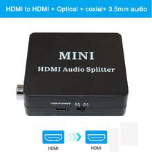 1080P HDMI audio extractor + Optical TOSLINK SPDIF + 3.5mm Stereo Audio Extractor Converter HDMI Audio Splitter(China)