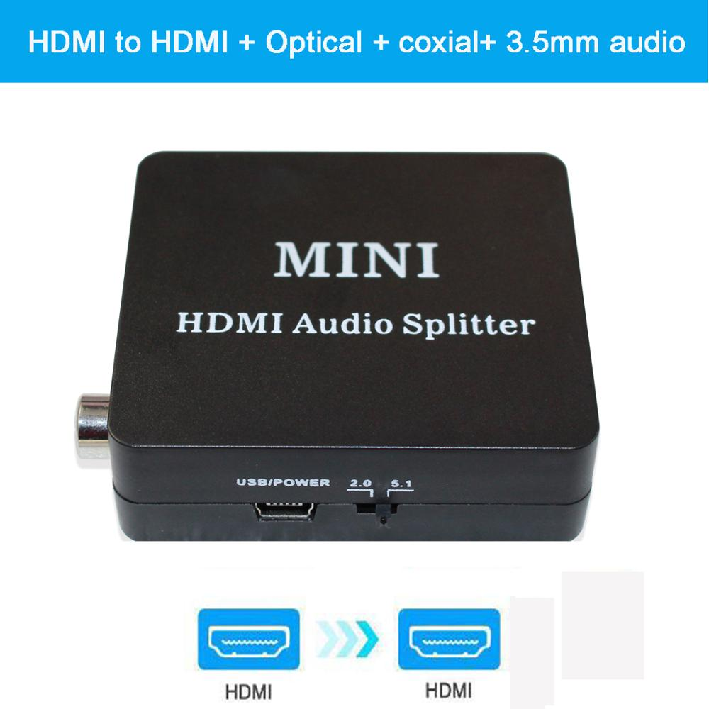 HDMI To HDMI With Optical TOSLINK SPDIF /3.5mm Stereo Audio Extractor Converter HDMI Audio Adapter Extractor