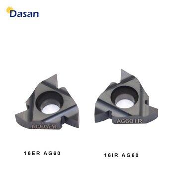 16ER AG60 16IR 16ER 1.0ISO 2.0 ISO 3.0 Tugsten Carbide Inserts Threading Blade CNC Thread Plate Lathe Turning Tool 10pcs 16er ag60 carbide insert threading lathe turning tool holder t15 wrench