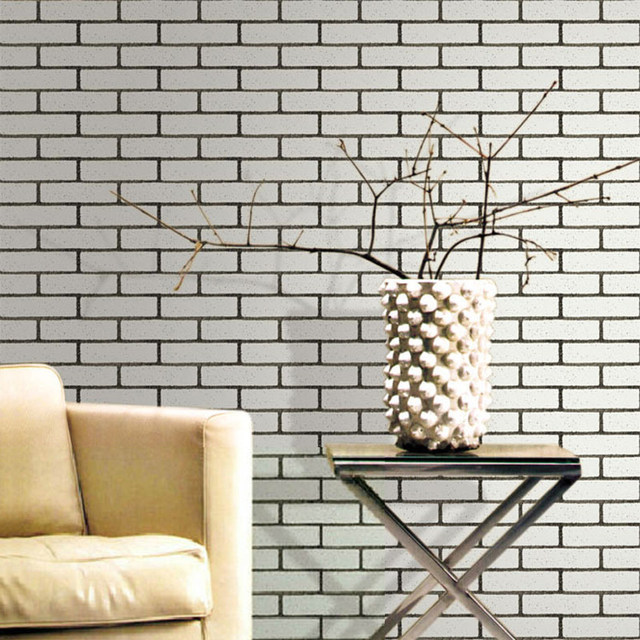 Modern 3D Embossed Stone Brick Wall Vinyl Wallpaper Roll Home Decor Living Room Kitchen Bathroom Background Covering Paper