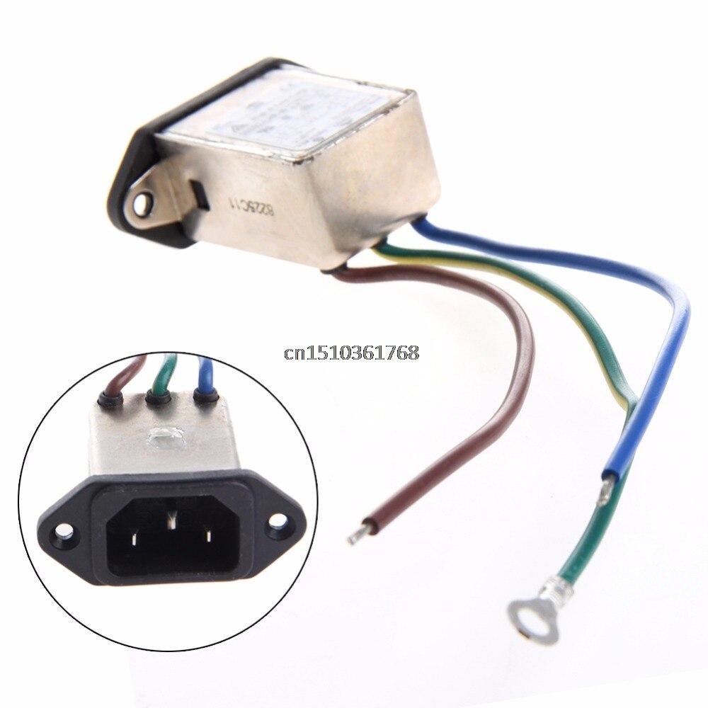3-pin 115/8a 220 V Ac 50/60 Hz Power Filter Stecker Panel Montieren Filter Emi # Y05 # # C05 # Angenehm Im Nachgeschmack
