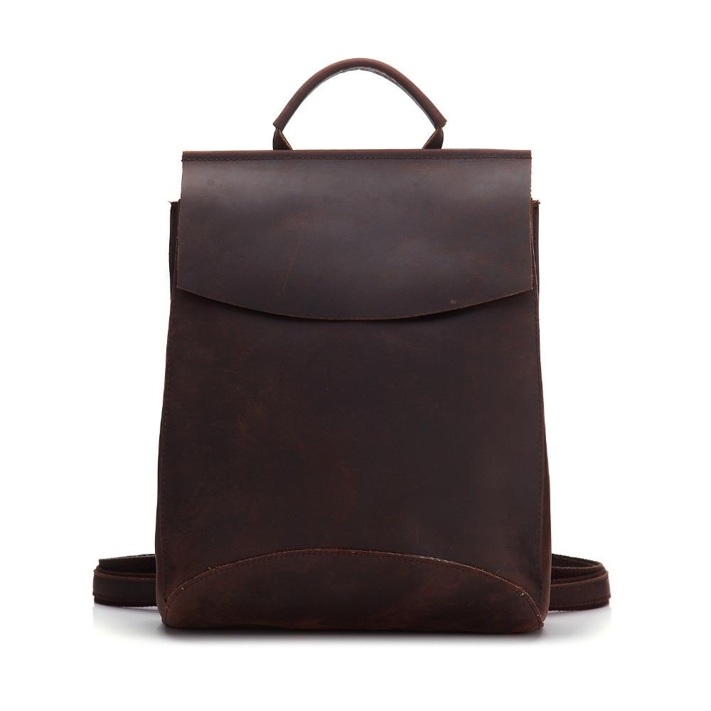 Lässige Erste Mode brown Anti Weibliche Paste Flut Laptop Große Red Schicht Schul Rucksack Leder Rindsleder Taschen Totes diebstahl Reise OpU5gqw