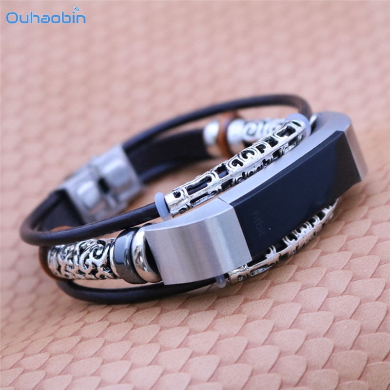 Ouhaobin Replacement Leather Strap Wristband Band Strap Bracelet For Fitbit Alta/Fitbit Alta HR Straps High Quality Sep13