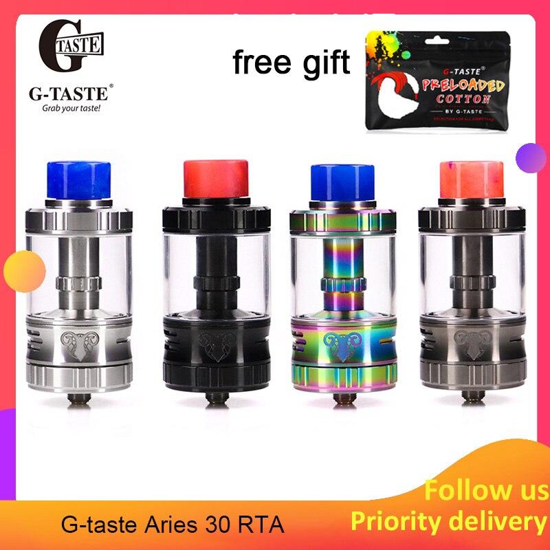 Date Vape g-goût Aries 30 RTA 10 ml/6 ml Unique vis système AFC 510 fil Vape atomiseur vs vapeur crave Aromamizer plus