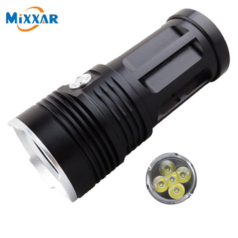 zk30 MI-5 10000LM Led flashlight Torch 5x Cree XM-L T6 tactical Lantern Camp Hunting Light can use with 4x18650 battery ru zk50 led flashlight 3x 5x 7x 9x cree xm l t6 lamp beads led torch flash light tactical lantern for hunting camping no battery