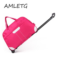 Oxford Cloth Waterproof Luggage Trolley Bag Female Travel Trolley Unisex Bag Large Capacity Travel Bag with Wheel Suitcase