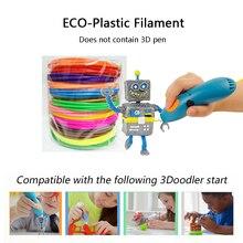 1 Китай высокое качество PCL 3D ручка нити Совместимость с 3doodler начать 3D ручка, эко-пластиковые нити 2 метров/рулон, 6-18 цветов/комплект