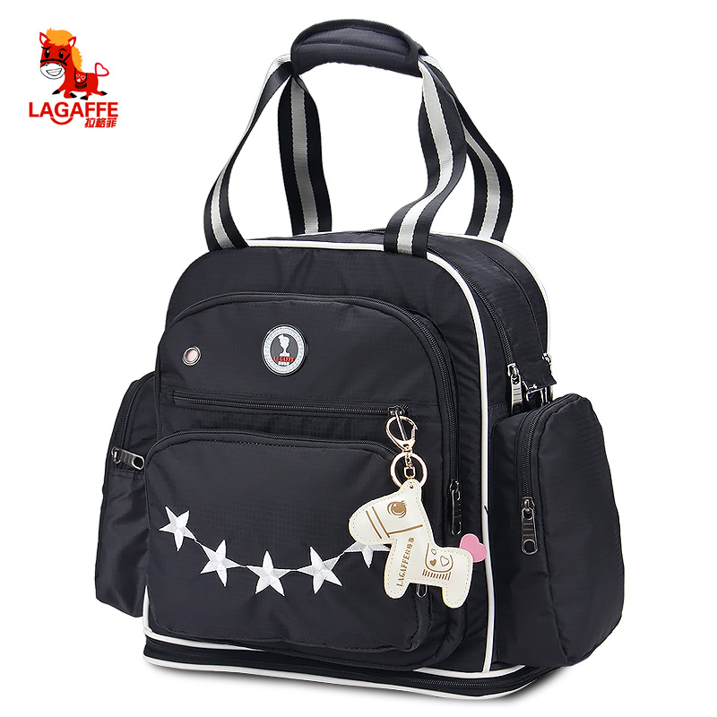 LAGAFFE Nappy Bag Diaper Bag Backpack Cartoon Stars Multifunction Large Capacity Travel Handbag