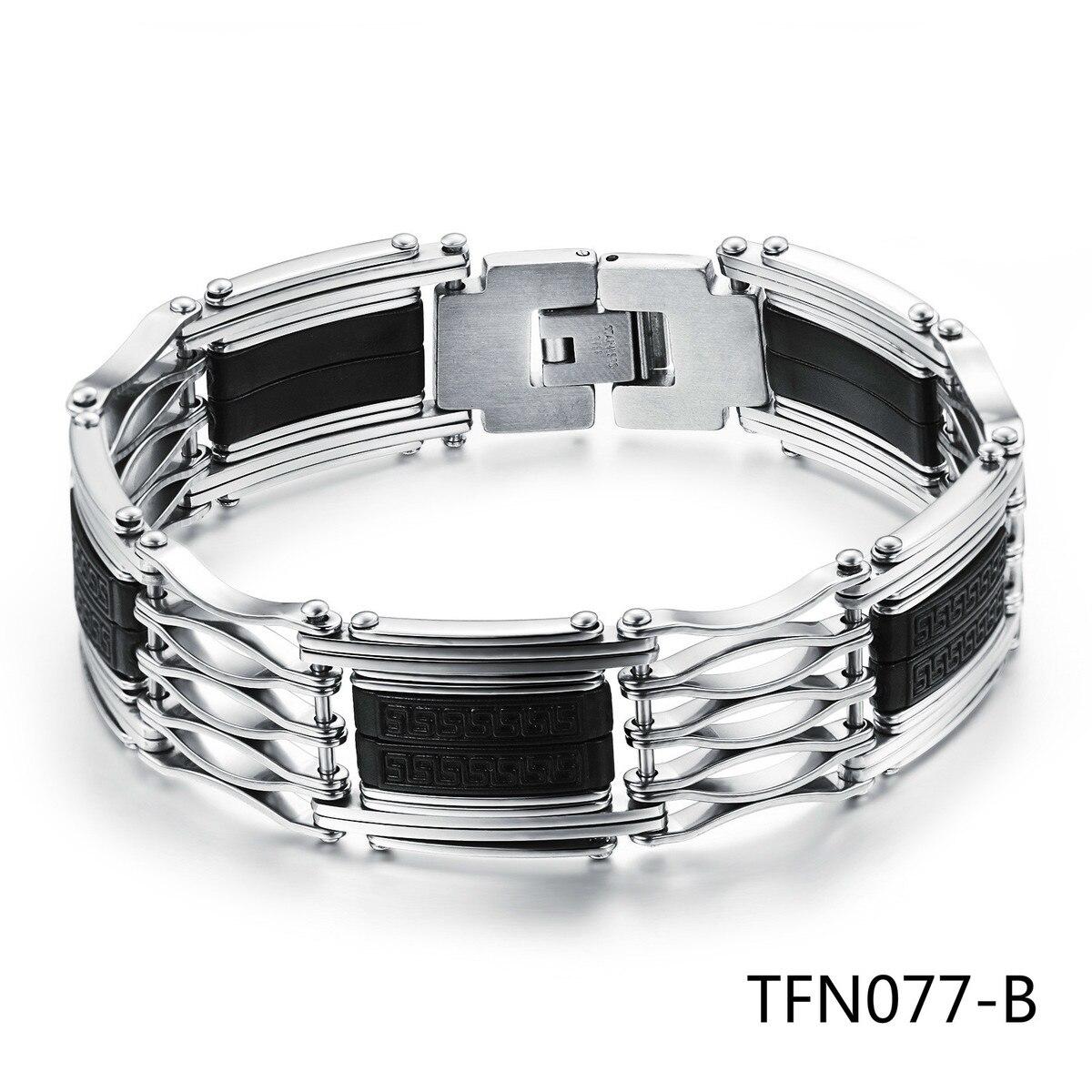 Tide Male Handsome Concise Restore Ancient Ways Fine Silica Gel Bracelet Man Bracelet Exceed Big Face Width PH935