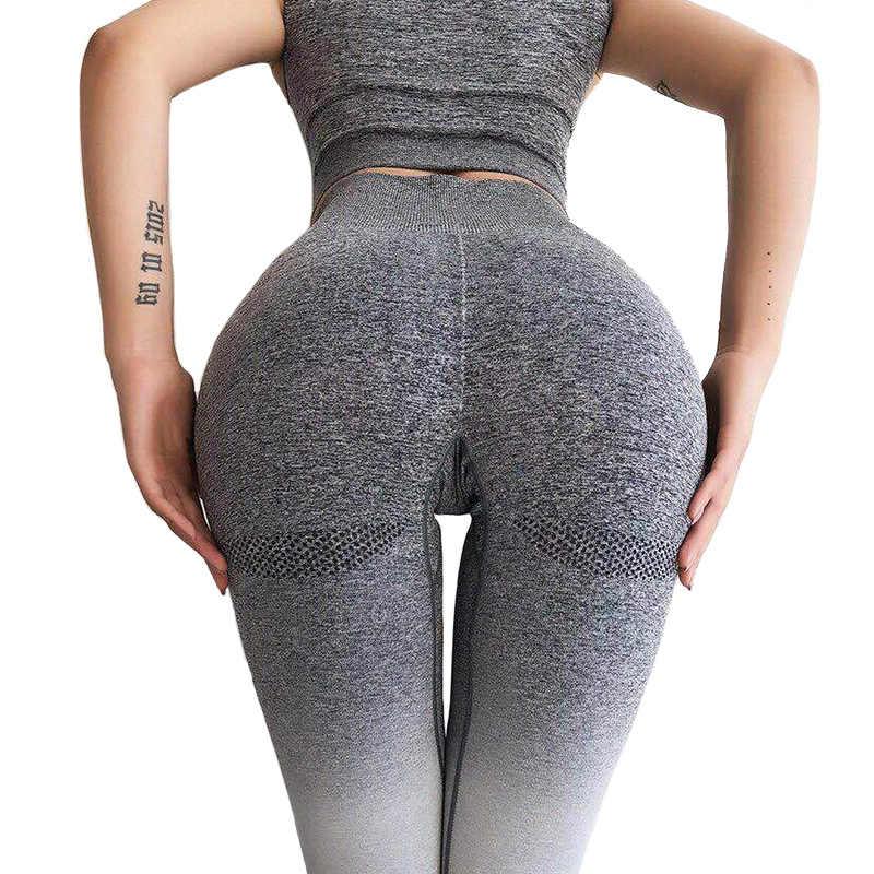 adf0441033e315 Women Yoga Pants Seamless Leggings Fitness Leggings Workout Sportswear  Running Gym Shark Sports Jersey Tights Slim
