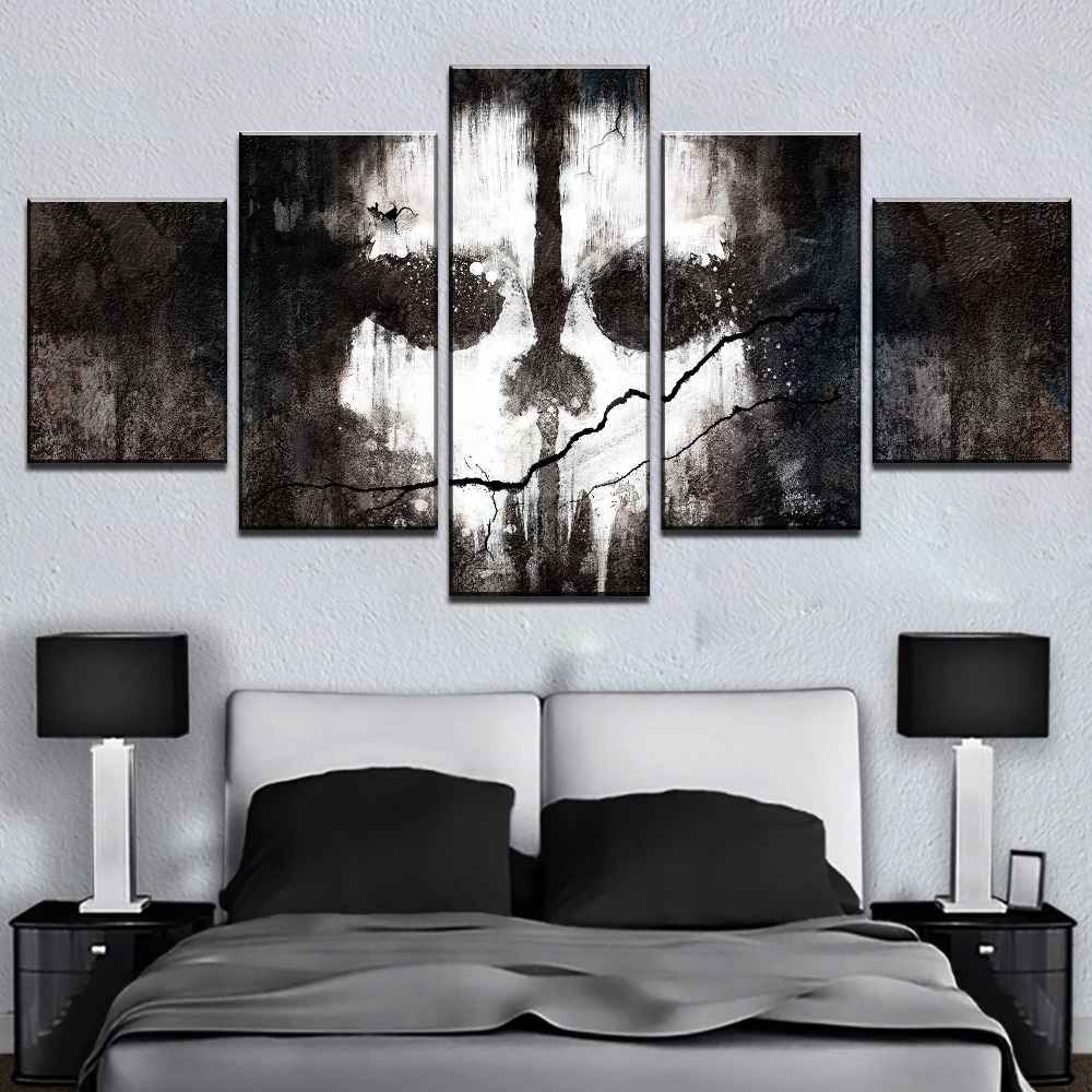 5 Panel Canvas Print Call Of Duty Game Poster Cuadros Decoracion Paintings on Canvas Wall Art for Home Decorations Wall Decor