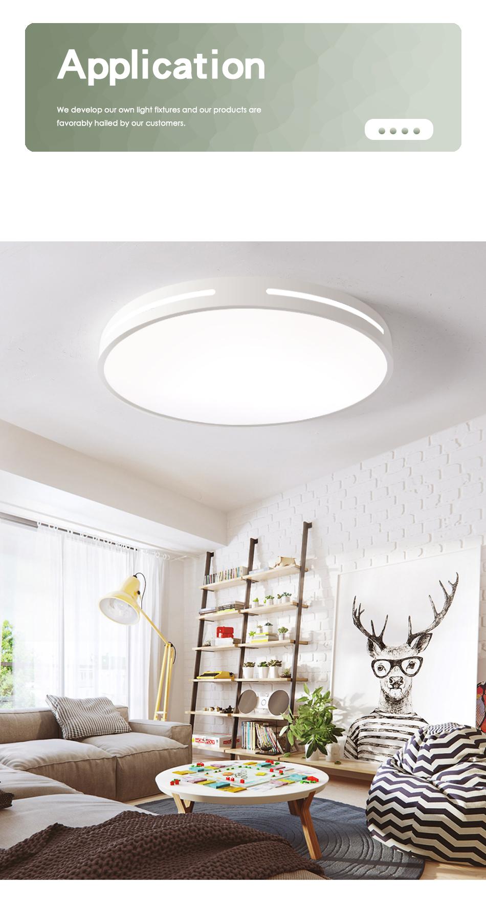 HTB1dnMUXHj1gK0jSZFuq6ArHpXaU Modern LED Ceiling Light Lamp Lighting Fixture Surface Mount Flush Remote Control Dimmable 18W 48W Living Room Bedroom Balcony