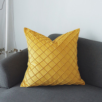 Velvet Cushion Cover Decorative Christmas Cushion Covers Short Plush Cushion for Sofa Chair Seats Pillow Cover Classic Plaid
