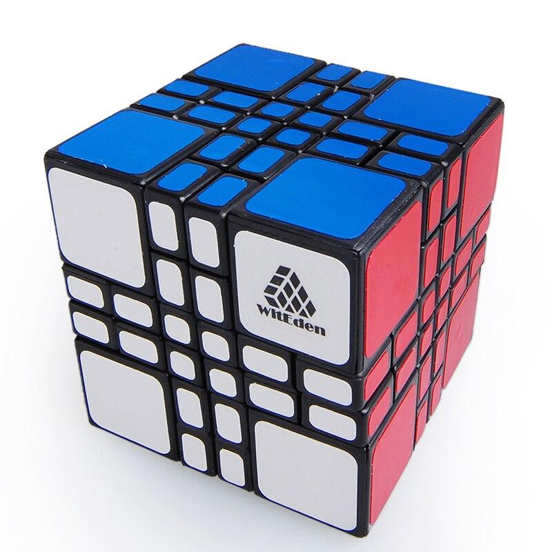 LeadingStar Magique Cube 4x4x4 Mixup Plus Noir Vitesse Puzzle Éducatif Twisty Jouets pour Enfants et Speedcubers vente chaude