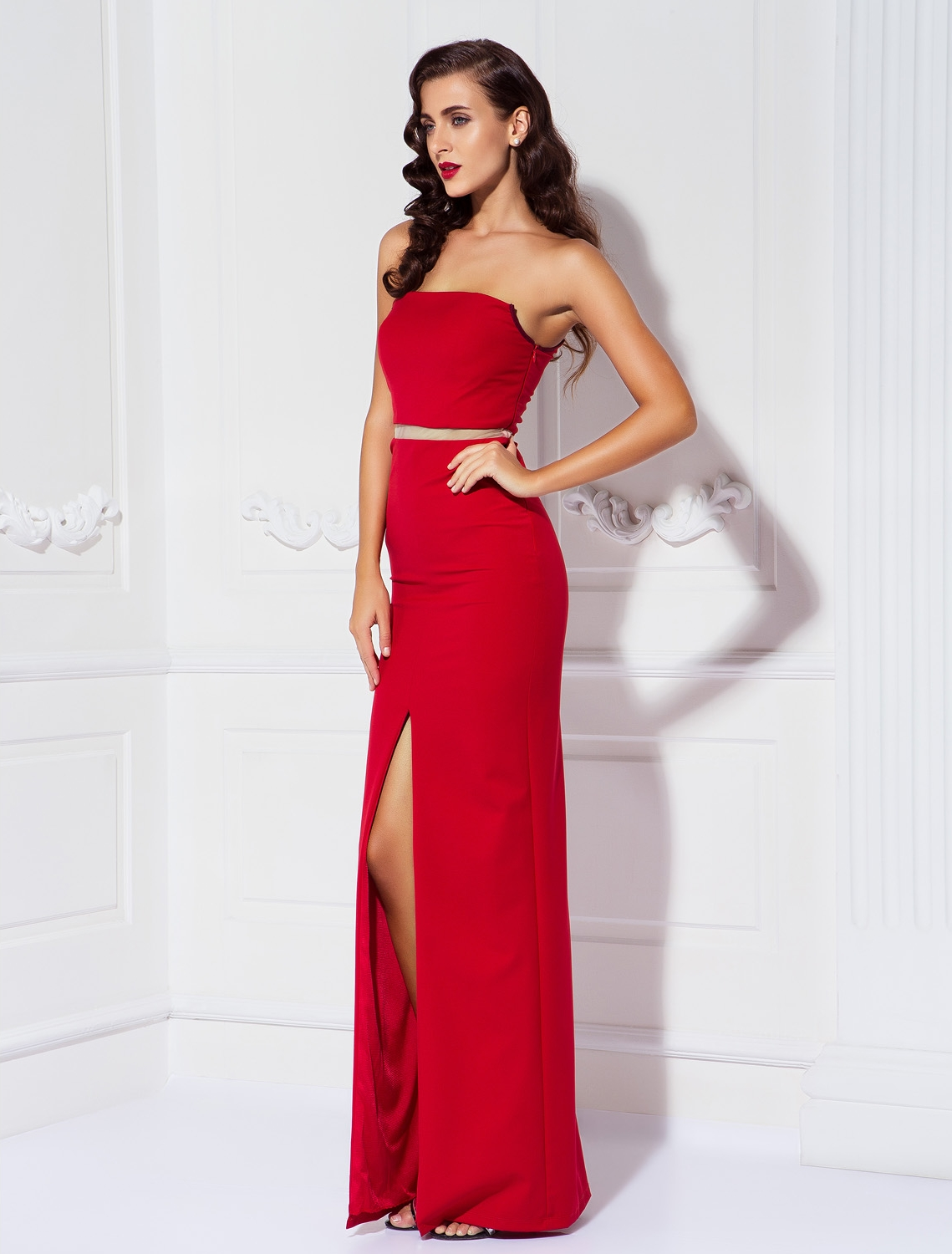 TS Couture Sheath   Column One Shoulder Floor Length Satin Chiffon party  Prom Dress with Draping High Quality Vestido de festaUSD 109.99-129.99 piece 5f3d7bfa6cd5