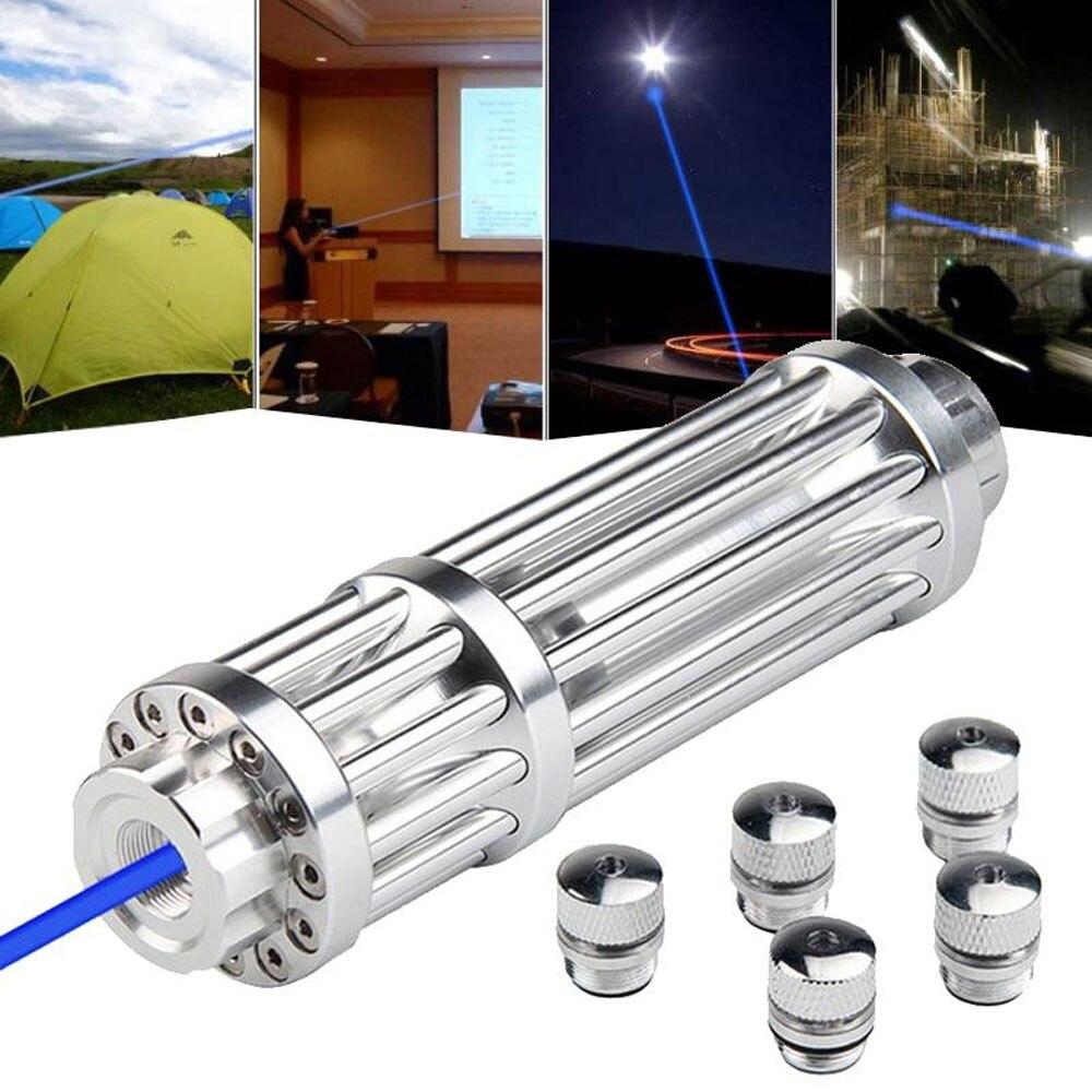 Haute Puissance 5000 m Bleu Laser Pointeurs 1500nm Lazer lampe de Poche Allumette/Brûler cigare de lumière/bougie/noir chasse wuthout batterie
