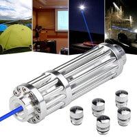 High Power 5000m Blue Laser Pointers 1500nm Lazer Flashlight Burning Match/Burn light cigar/candle/black Hunting wuthout battery