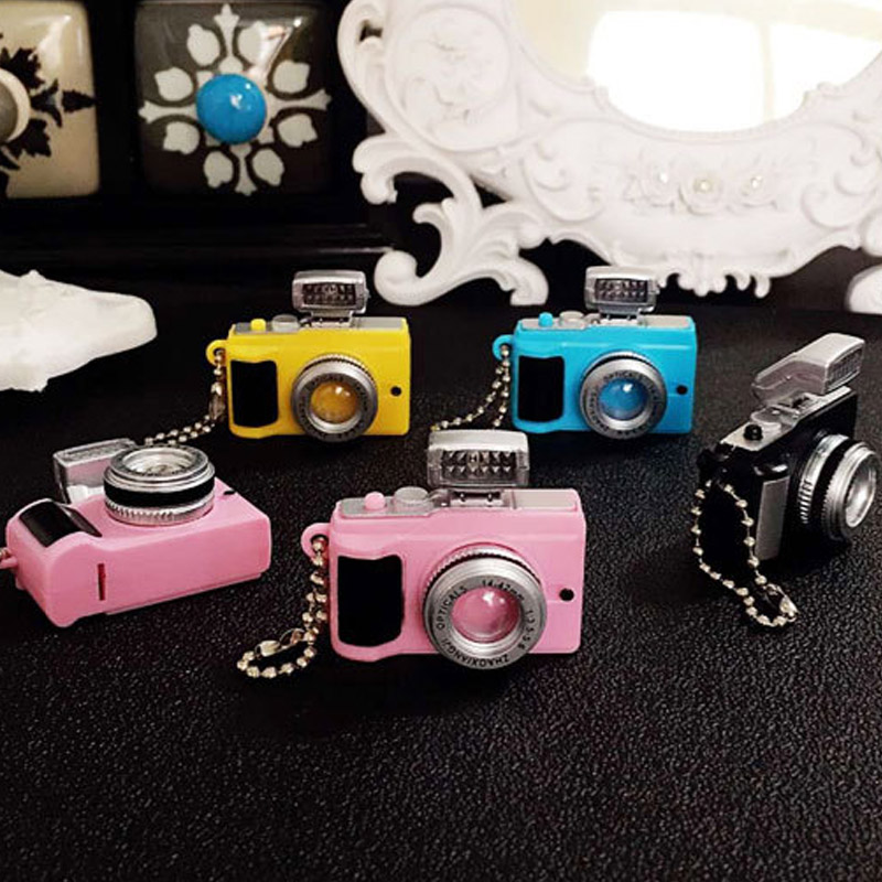 Led Camera Flashing Toys For Kids Digital Camera Keychain Luminous Sound Flash Light Pendant Bag Accessories Children Toy